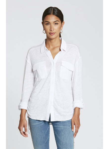 Dear John Dear John Harleen Optic White Button Top