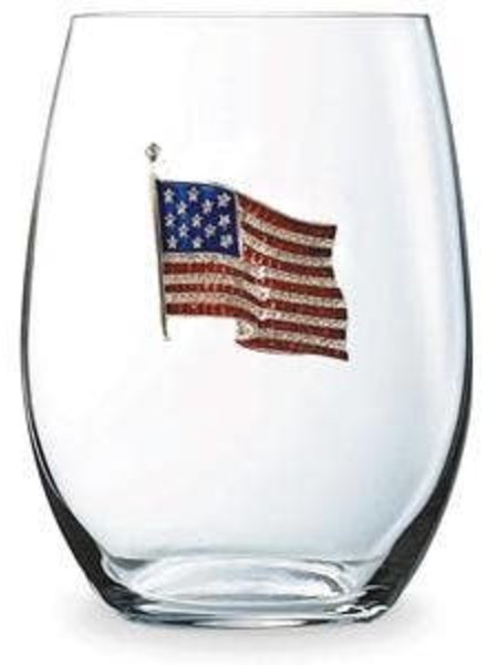 Cork Pops Cork Pops Stemless Glass USA Flag