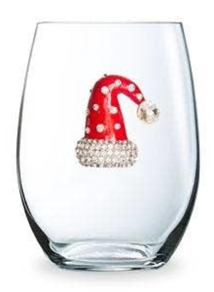 Cork Pops Cork Pops Stemless Glass Santa Hat