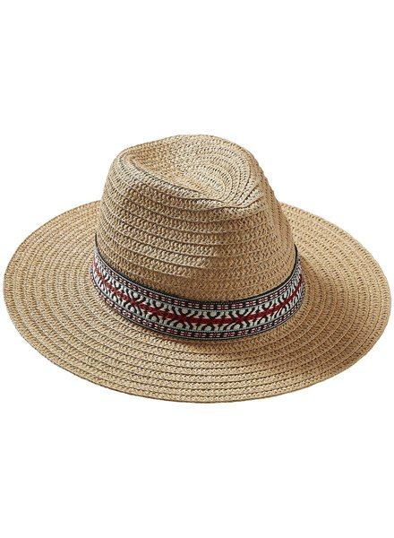Tickled Pink Tickled Pink Panama Summer Hat Red