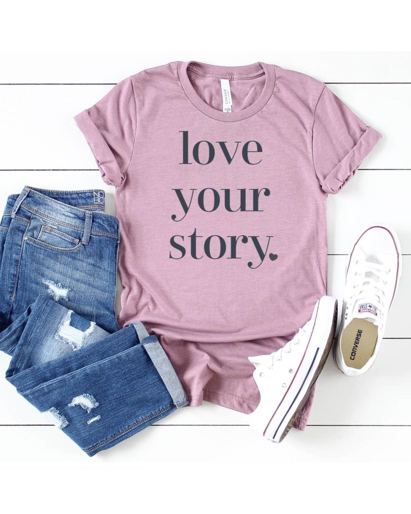 Top Crate Top Crate Love Your Story Graphic Tee