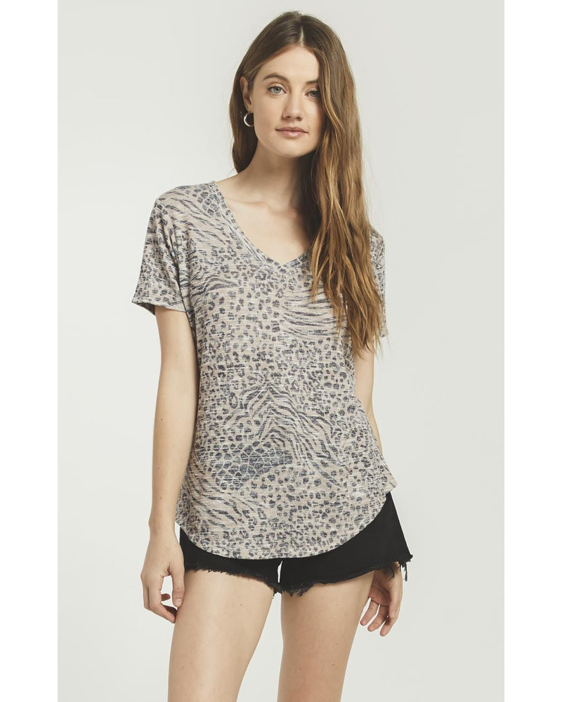 Z Supply Z Supply Ridley Animal Tee Sand
