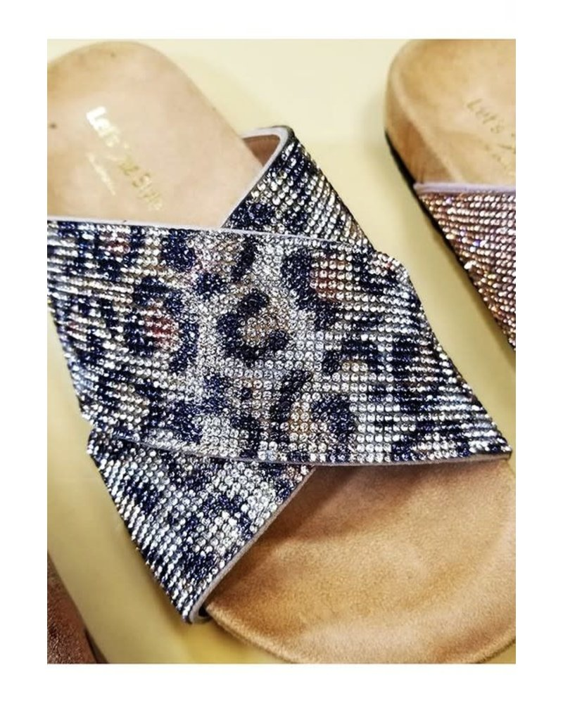 Let's See Style Let's See Style Leopard Stones Sandal