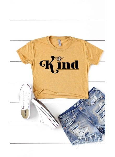Kissed Apparel Kissed Apparel BEE Kind Cropped Tee Yellow