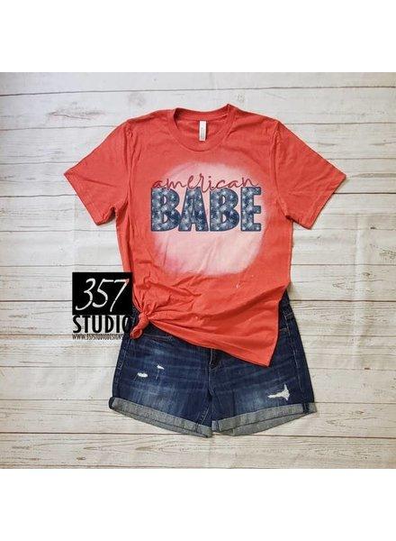 357 Studio 357 Studio American Babe Red Tee