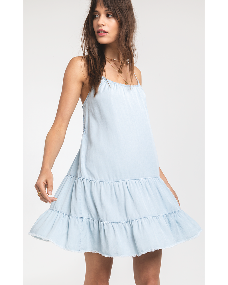 Rag Poets Rag Poets Light Blue Dress