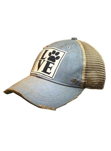 Vintage Life Vintage Life Love Paw Ladies Hat Light Blue