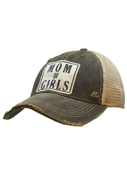 Vintage Life Vintage Life Mom of GIRLS Ladies Hat Charcoal