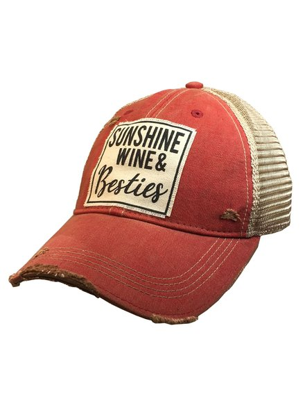 Vintage Life Vintage Life Sunshine Wine Besties Ladies Hat Red