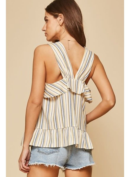 Andree Andree Striped Ruffle Top