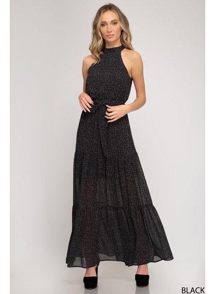 She & Sky She & Sky Maxi Dress Black