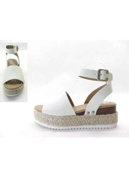 M & Z Shoes M & Z Shoes White Strap Sandal