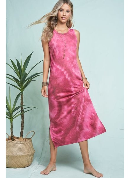 La Miel La Miel Tie Dye Tank Dress