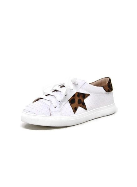 Let's See Style Let's See Style White Snakeskin Leopard Star