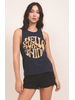 Others Follow Others Follow Hello Sunshine Tank Navy/Gold