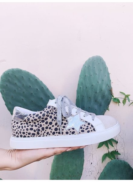 Let's See Style Let's See Style Sneaker Cheetah & Silver