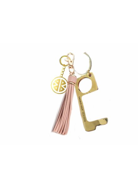 Pieces of Me Pieces of Me Don't Touch with Tassel Key Chain