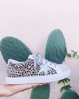 Let's See Style Let's See Style Cheetah Silver Sneakers