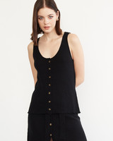 Another Love Another Love Button Sweater Tank Top Black
