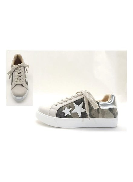 Let's See Style Let's See Style Camo Star Sneakers