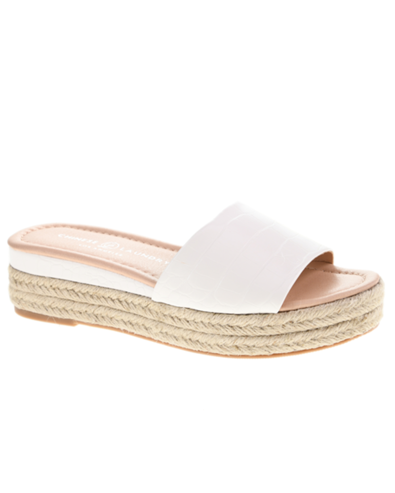 Chinese Laundry Chinese Laundry Simora Croc White Sandal