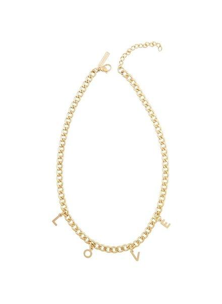 Sahira Sahira Love Chain Necklace Gold