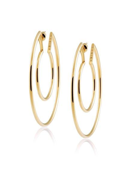 Sahira Sahira Faye Cutout Hoops Earring Gold