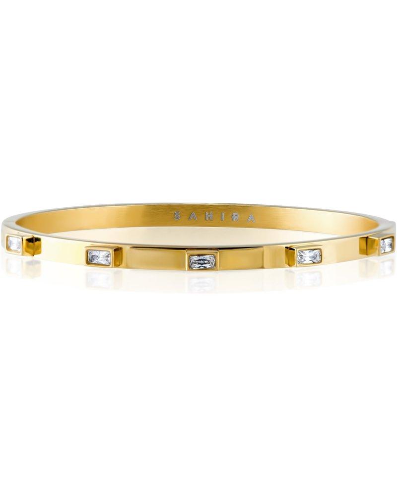 Sahira Sahira Diamond Baguette Stackable Bracelet
