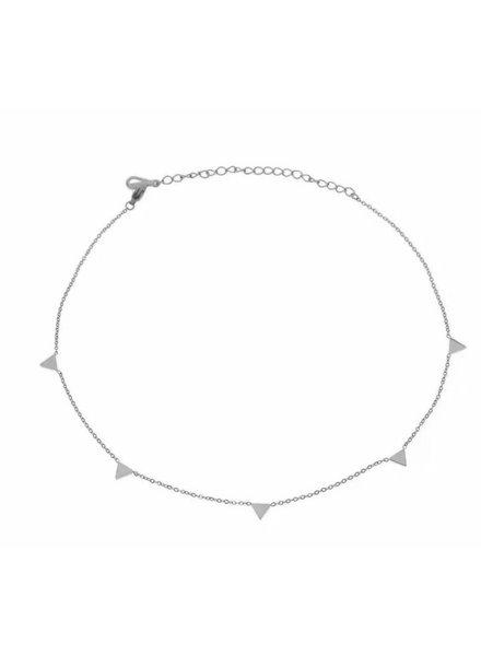 Sahira Sahira Triangle Choker Necklace Silver