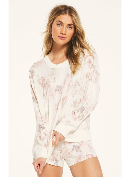 Z Supply Z LOUNGE Elle Floral Sweatshirt