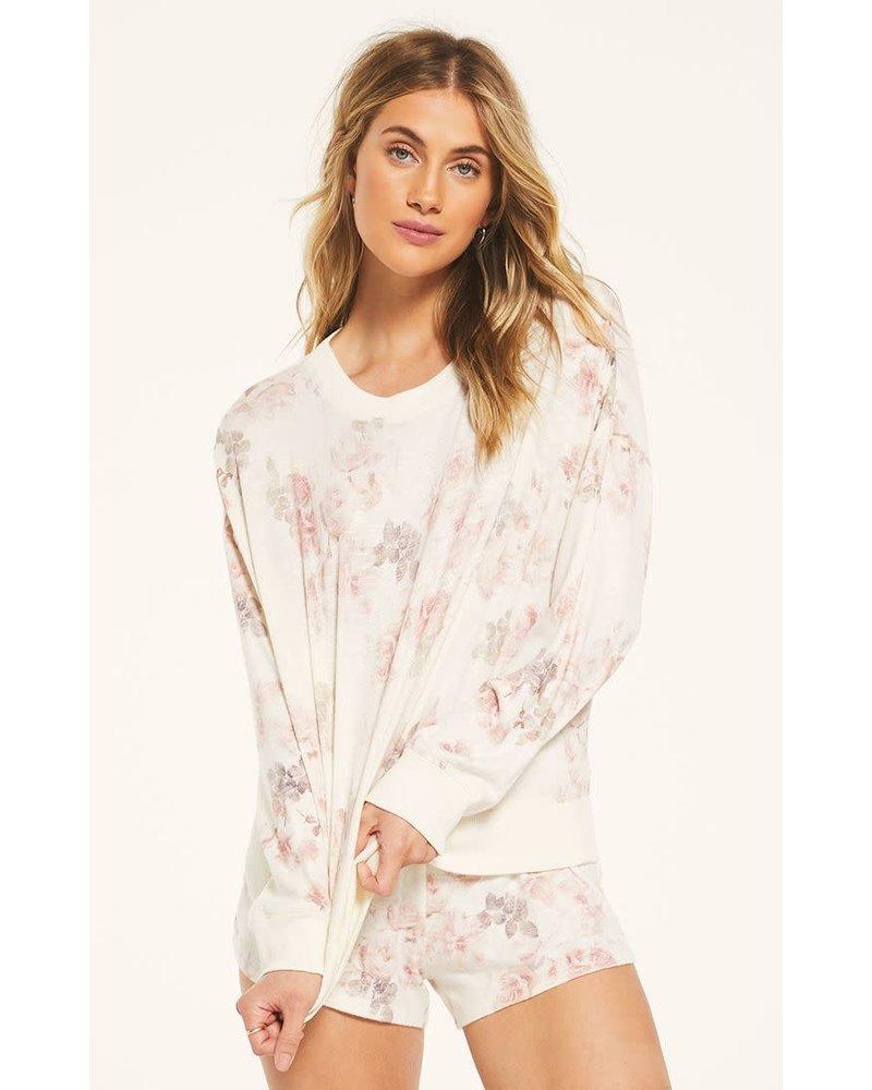 Z Supply Z LOUNGE Elle Floral Sweatshirt