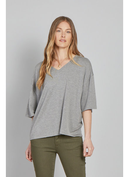 Another Love Another Love Heather Grey V Neck
