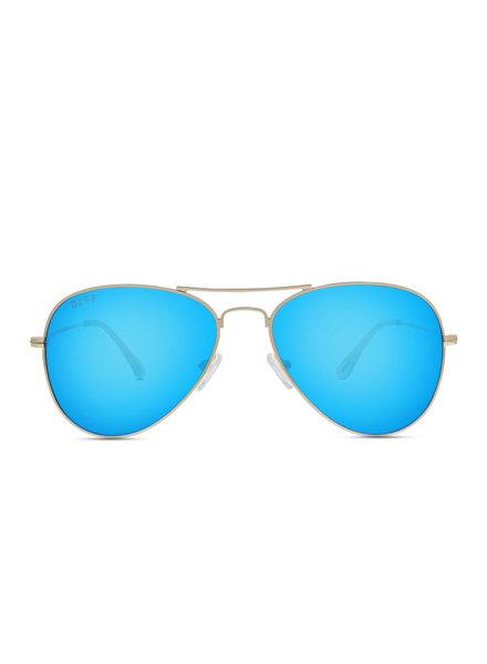 DIFF DIFF Cruz Blue Mirror Polarized Sunglasses