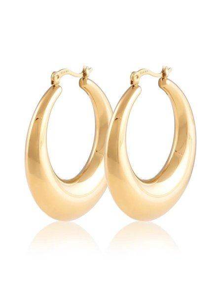 Sahira Sahira Maddie Hoops Gold Earring