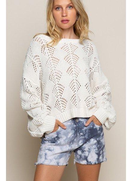 POL POL Cream Sweater