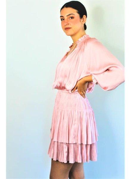 Jane Jane Tiered Dress Blush
