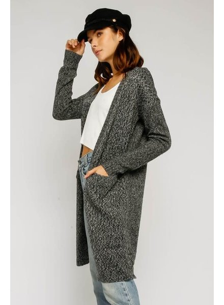 Olivaceous Olivaceous Charcoal Cardigan