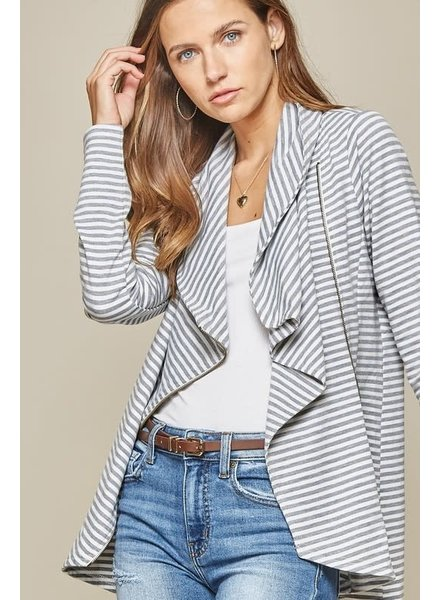 Andree Andree Stripe Comfy Jacket with Zipper