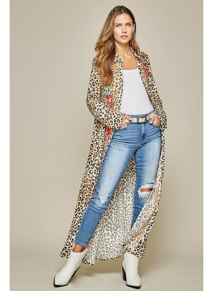 Andree Andree Leopard Emb Dress/Duster