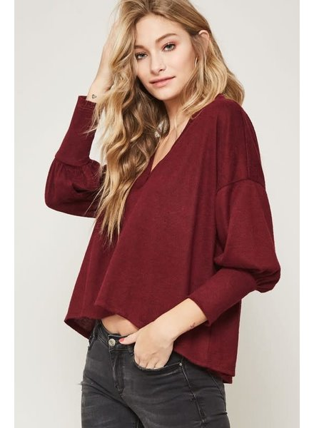 Promesa Promesa Burgundy Plush Top