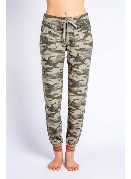 PJ Salvage PJ Salvage Camo Jogger Orange