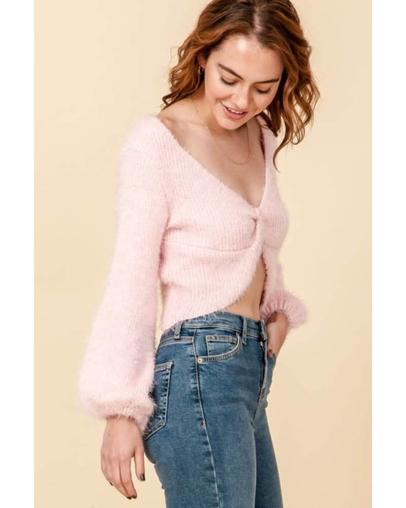 HYFVE HYFVE Light Pink Twist Sweater
