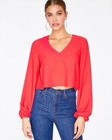 Hey You Hey You Blouson Sleeve Top
