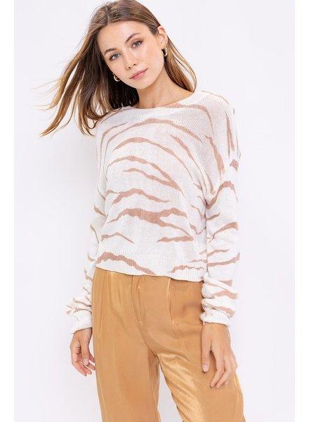 Le Lis Le Lis Cream Animal Sweater