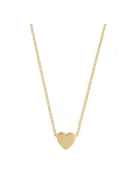 Sahira Sahira Mini Heart Necklace Gold
