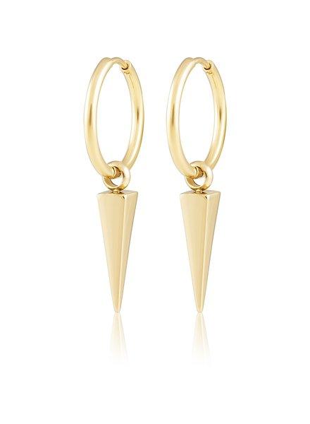 Sahira Sahira Aria Spike Hoops Earrings Gold