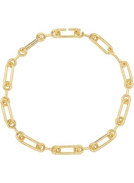 Sahira Sahira Lacey Chain Necklace Gold