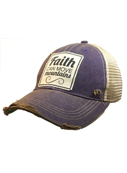 Vintage Life Vintage Life Faith Can Move Mountains Ladies Hat Purple
