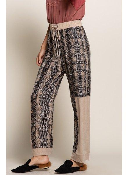 POL POL Snakeskin Pants