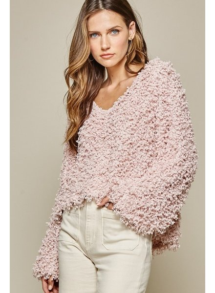 Andree Andree Pink Popcorn Sweater
